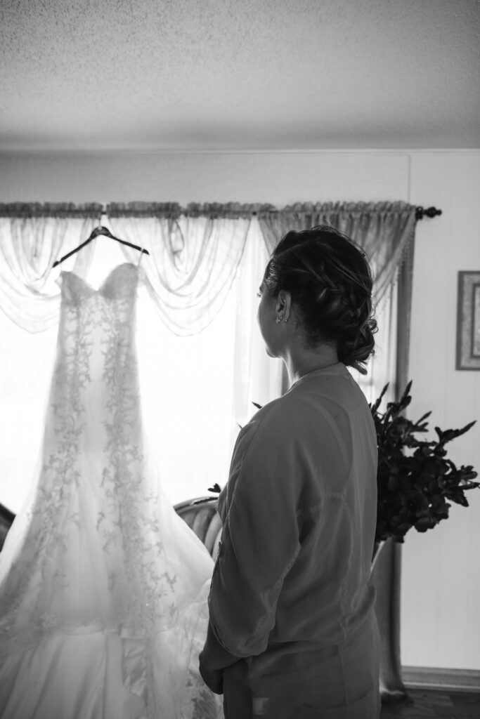 Bride Seeing Dress