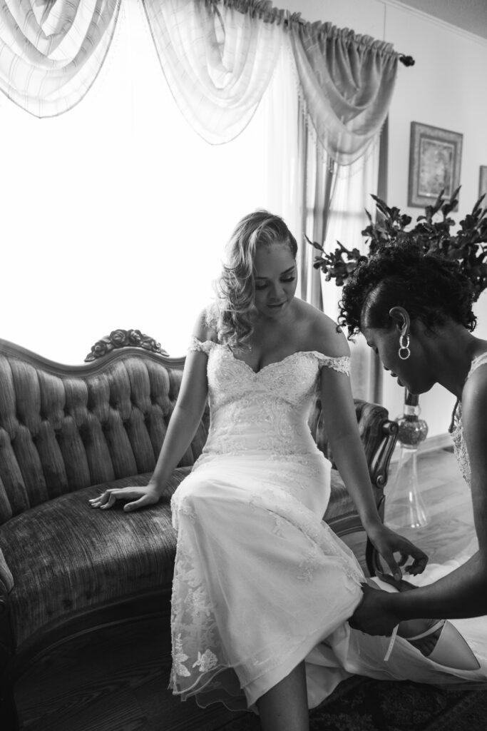 Bride Sitting